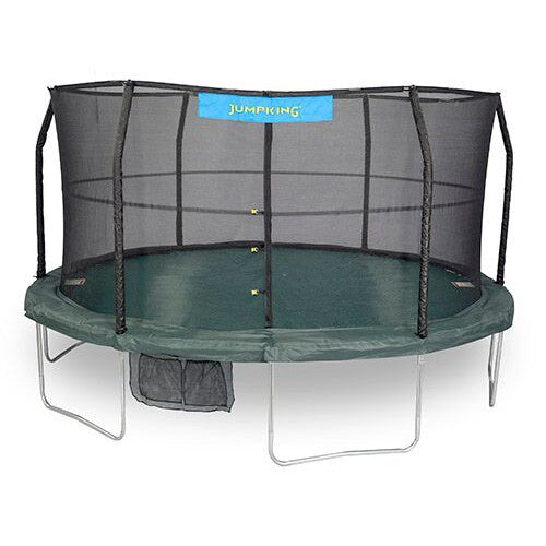 15'  Jumpking 6 Legs,6 Poles, 96 Springs With Green/Black Jumping Surface - www.babylife4u.com