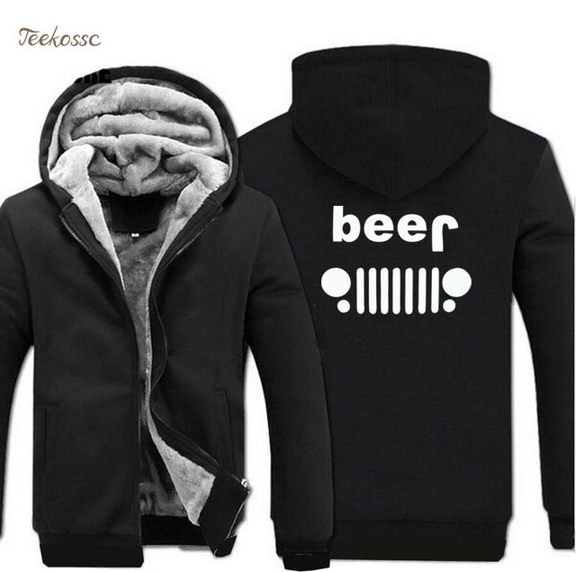 Jeep Beer Hooded Jacket - No Limit Trends