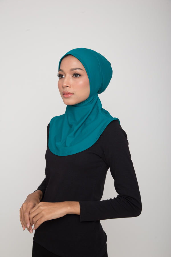 Swim Hijab - Dark Green (Tropics Green)