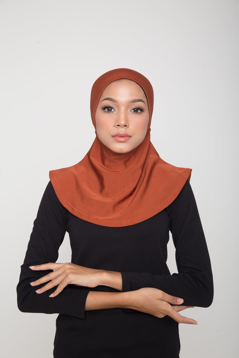 Swim Hijab - Shimmery Burnt Orange