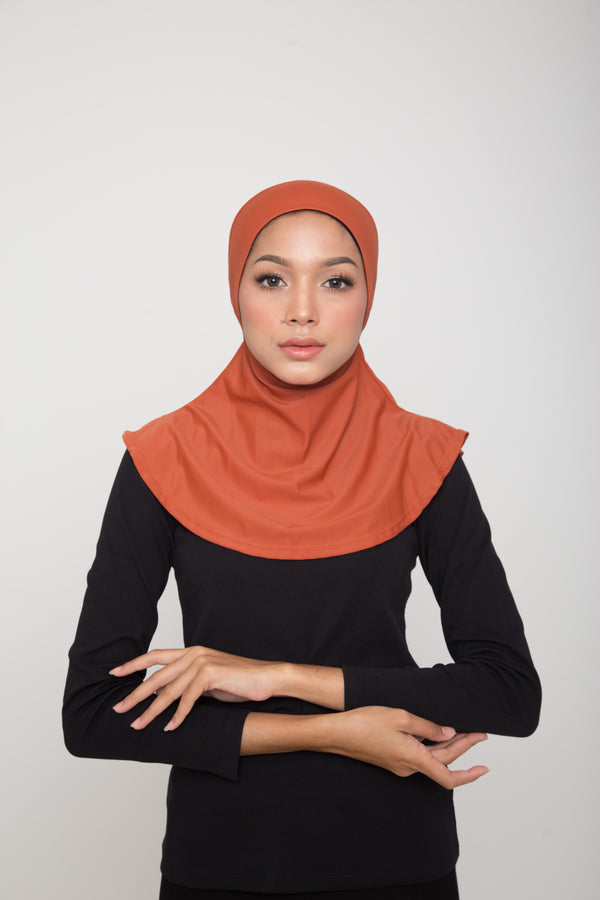 Swim Hijab - Burnt Orange