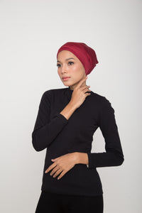 Swim Turban - Shimmery Burgundy