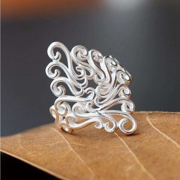 31b4fd6fdaafd2 Fashion Sterling Silver Filled Ornate Oversized Ring – Love Fashion ...
