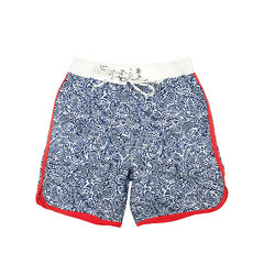 Blue Paisley Board Shorts, size 1/2 only