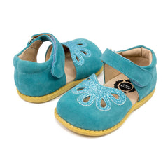 sale - Petal Aqua Suede Shoes