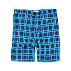 Blue Plaid Hybrid Shorts