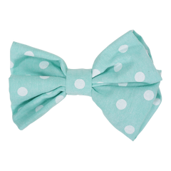 Polka Dot Mint Hair Bow