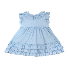 Ruffle Seersucker Baby Dress