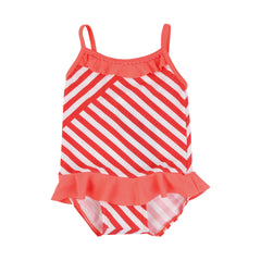Ruffle Striped Baby Swimsuit