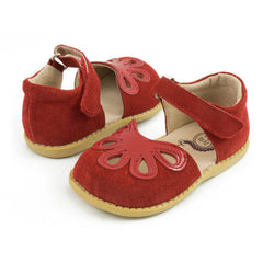 sale - Petal Red Suede Shoes