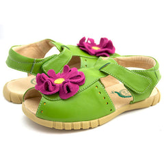 sale - Youth Bloom Lime Sandals