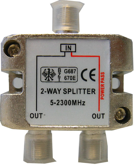 5-2300mhz 2-way splitter