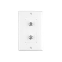 Wall Plate with 2 Coaxial Connectors White