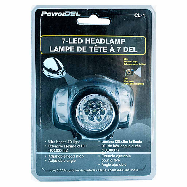 Headlamp with 7 LED