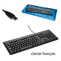 BlueDiamond Connect Basic Spill-Proof USB Keyboard French