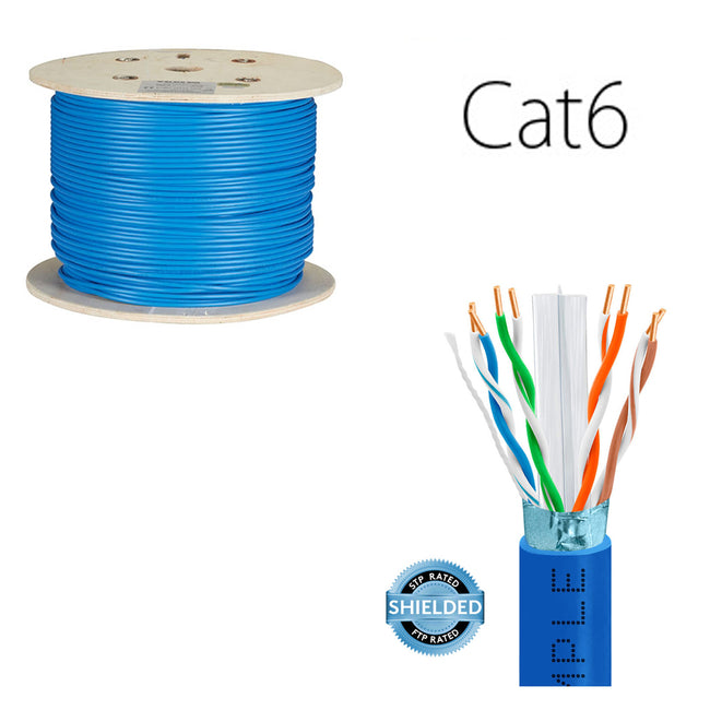Sheilded Network Cable Cat6 FT4 - Blue (24404L6-21)