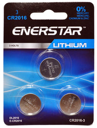 Button battery CR-2016 (pk3)