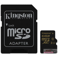 Kingston Micro SD Memory Class10 64Gb
