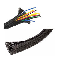 1/2'' x 10' Wrap-able split braided tubing - Black (8426-0-44)