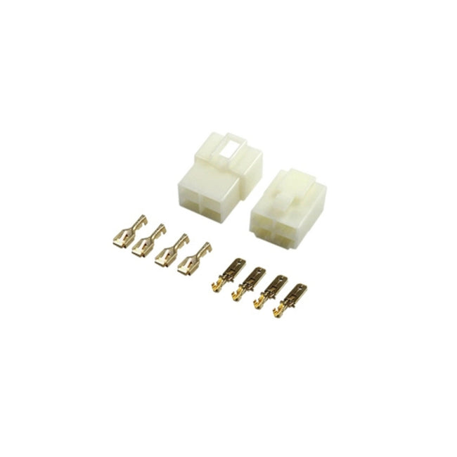 Molex Connector Set Male/Female 4 contacts 6.3mm