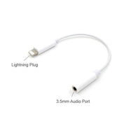 Lightning male to 3.5mm female stereo adapter - 12cm