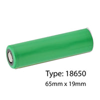 Lithium-Ion 3.7v rechargeable Type 18650 Battery