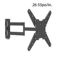 Globaltone TV Wall Mount 2 Arms Tilt Swivel 26 to 55in