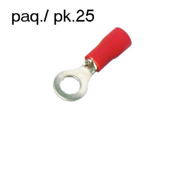 Terminal Ring Vinyl Insulated 3/8in 18-22AWG (pack of 25)