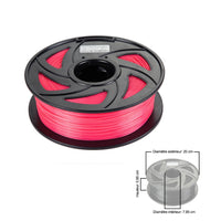 CloneBox Filament PLA 3D 1.75mm 1kg, precision +/- 0.05mm, Transparent Red