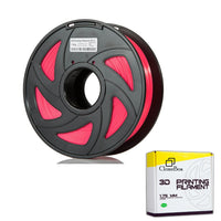Filament PLA 3D 1.75mm 1kg, precision +/- 0.05mm, Transparent Red