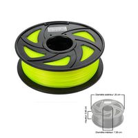 CloneBox Filament PLA 3D 1.75mm 1kg, precision +/- 0.05mm, FLuo Yellow