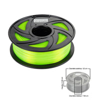CloneBox Filament PLA 3D 1.75mm 1kg, precision +/- 0.05mm, Fluo Green
