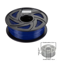 CloneBox Filament PLA 3D 1.75mm 1kg, precision +/- 0.05mm, Deep Blue