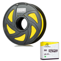 Filament PLA 3D 1.75mm 1kg, precision +/- 0.05mm, Yellow