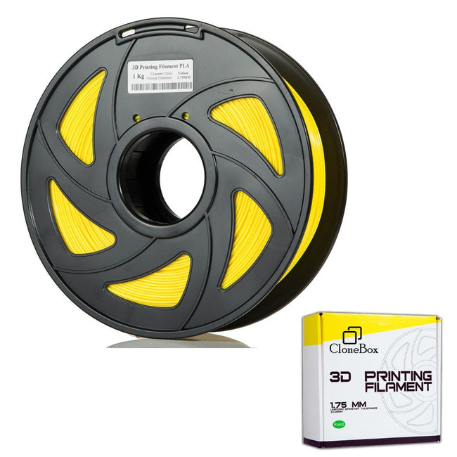 CloneBox Filament PLA 3D 1.75mm 1kg, precision +/- 0.05mm, Yellow