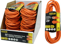 Electrical Outdoor Extension 16/3 13amp., 25ft. Orange