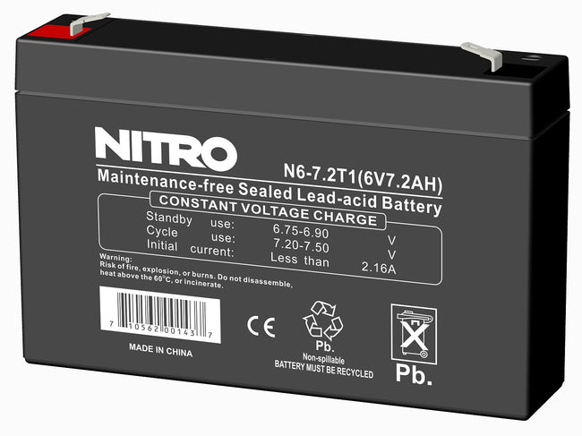 Rechargeable battery 6volt, 7ampere/ hour