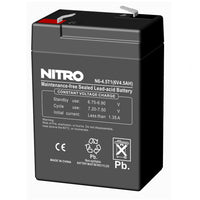 Rechargeable battery 6volt, 4ampere/ hour