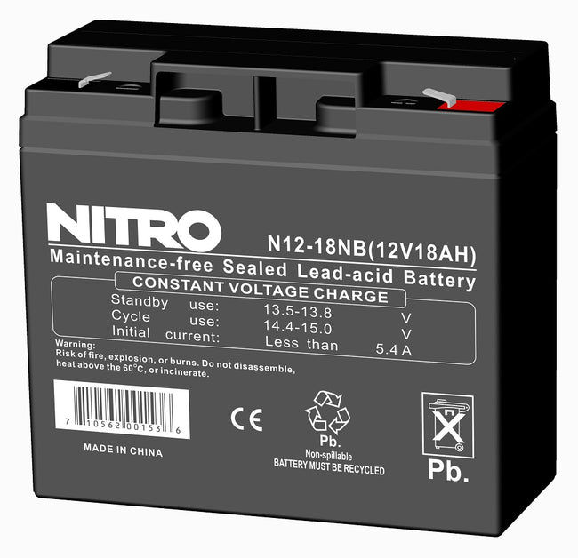 Rechargeable Battery 12vdc/ 17-18amp.