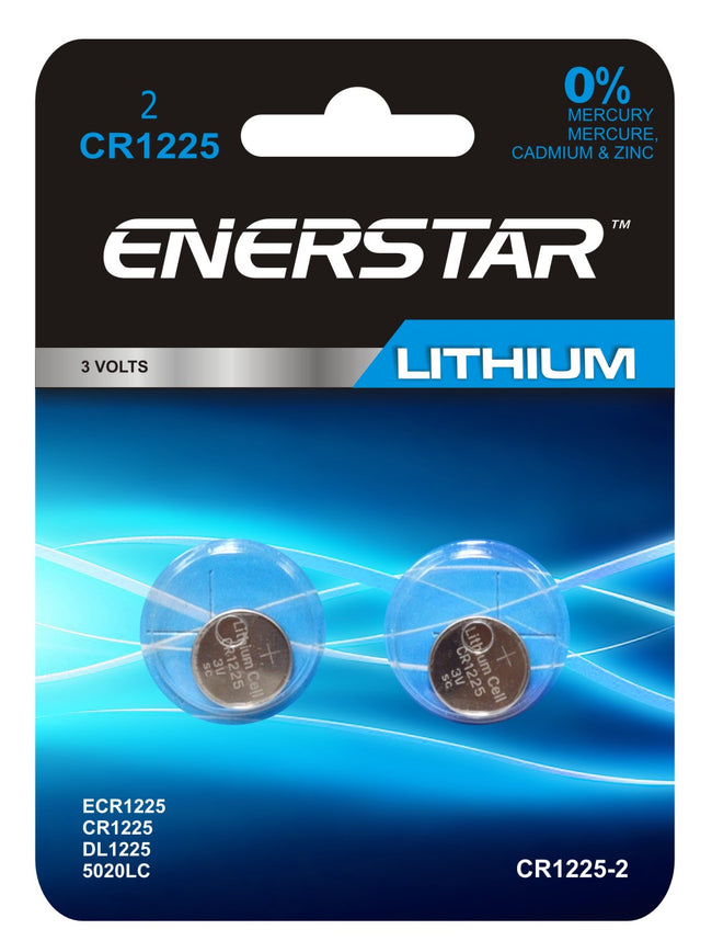 Button battery CR-1225 lithium (pk2)