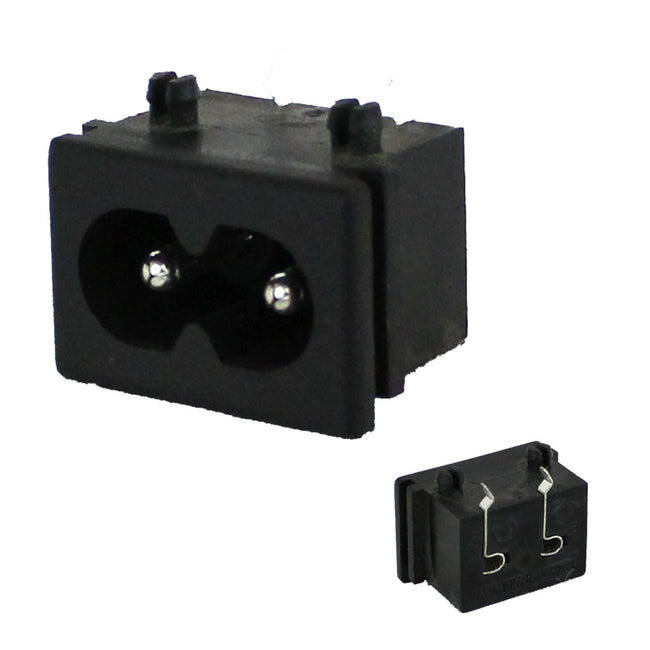 AC Female Socket Chassis Mount 2 contacts