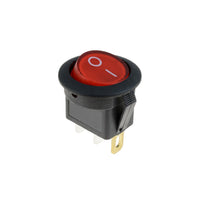Round rocker switch 10A red lamp 12vdc