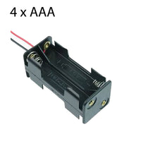 Battery Holder for 4 x AAA with leads