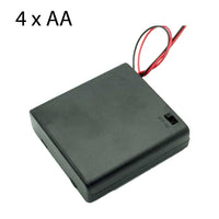 Battery Holder for 4 x AA with leads