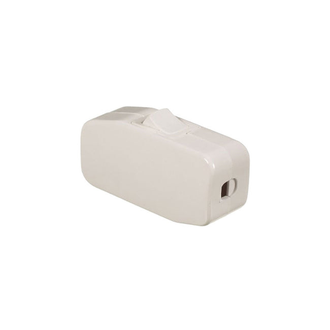 Lamp Cord Switch White 10a/125v