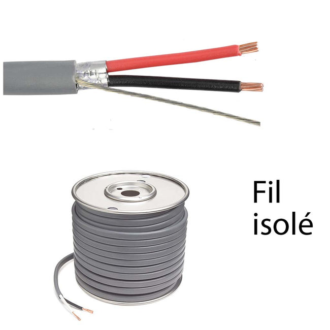 Shielded Electical Wire 2C/24 AWG (6601-21)