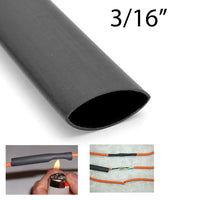 "Globaltone Heat Shrink 3/16"" (4') - Black (01848)"