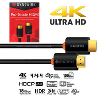 SyncWire HDMI 4K, Ultra HD 2160+ 3D cable - 2 meters (6.56 ft.)