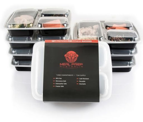 Meal Prep Australia Containers - 3 Compartment