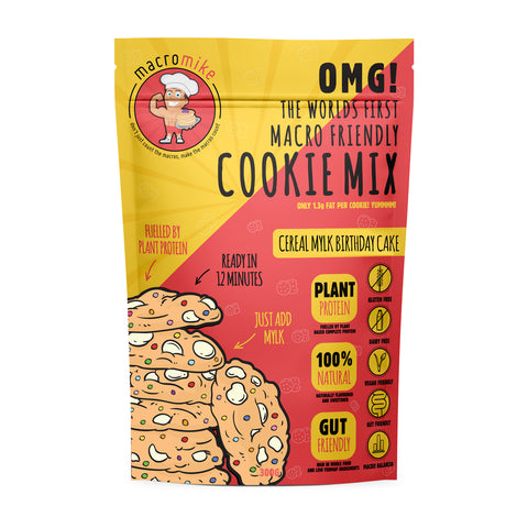 MACRO MIKE - Cereal Mylk Birthday Cake Cookies 300g